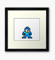 8 bit Mega Man - Like A Boss Ultra HQ Framed Print