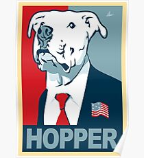Feel The Hopper (Red White and Hopper) Poster
