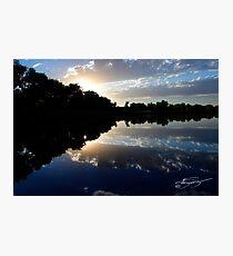 Blue Night Sunset Photographic Print