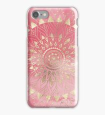 Modern  gold mandala iPhone Case/Skin