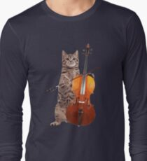 Cello Cat - Meowsicians Long Sleeve T-Shirt