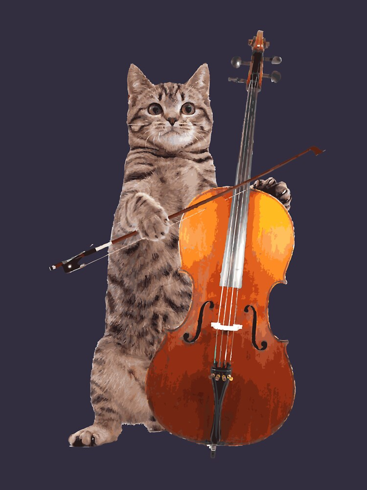Cello Cat - Meowsicians by StrawberryMo