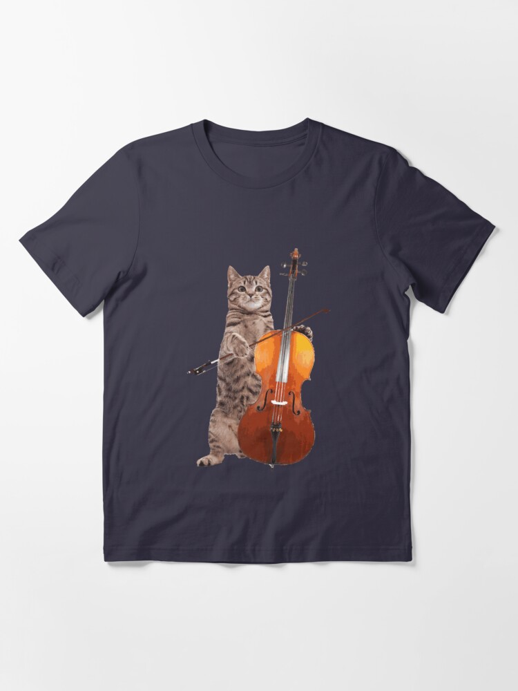 Alternate view of Cello Cat - Meowsicians Essential T-Shirt