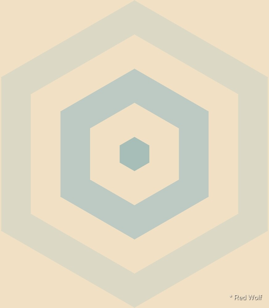 Geometric Pattern: Hexagon Hive: Julio by * Red Wolf