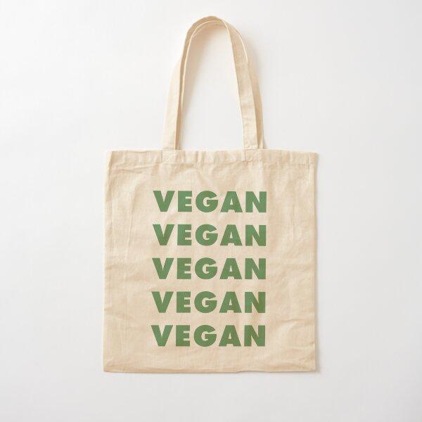 Vegan Vegan Vegan Vegan Cotton Tote Bag