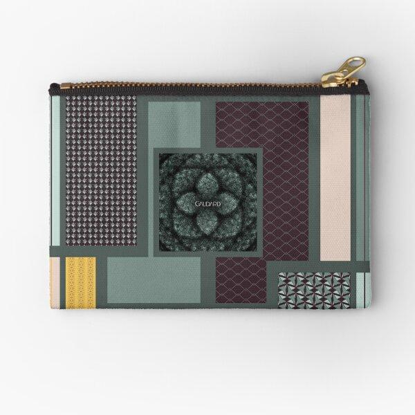 Contemporary Oriental Tile Zipper Pouch