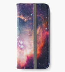 The Universe under the Microscope (Magellanic Cloud) iPhone Flip-Case/Hülle/Klebefolie