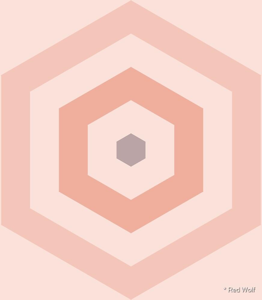 Geometric Pattern: Hexagon Hive: Wanderlust by * Red Wolf