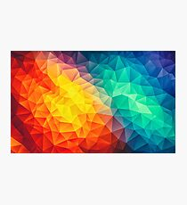 Abstract Multi Color Cubizm Painting Photographic Print