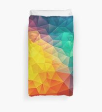 Abstract Multi Color Cubizm Painting Duvet Cover