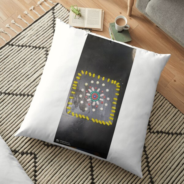 hand embroidery Floor Pillow