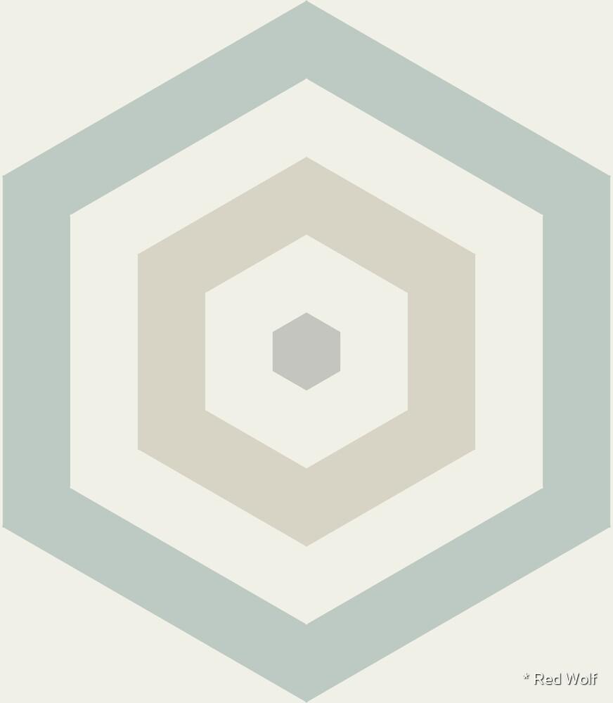 Geometric Pattern: Hexagon Hive: Savon by * Red Wolf