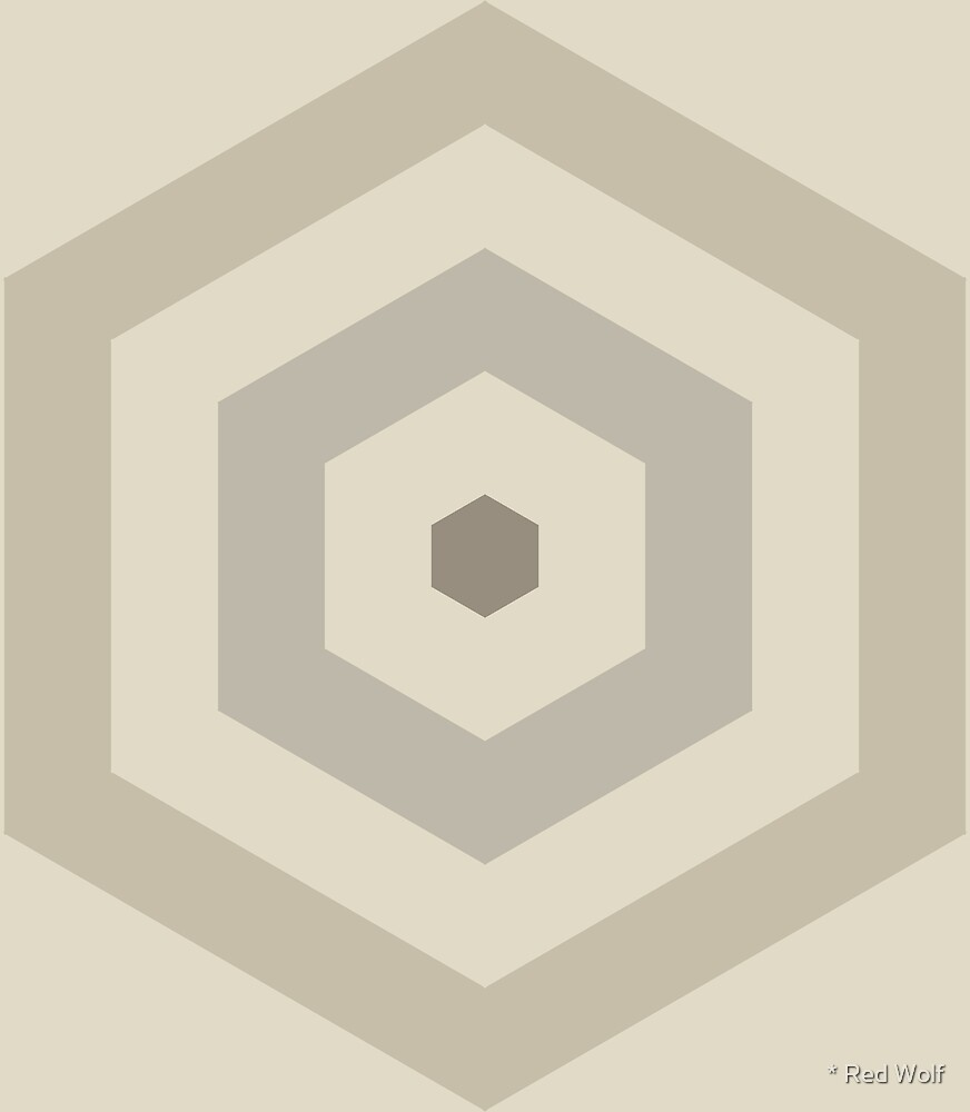 Geometric Pattern: Hexagon Hive: Sherwin by * Red Wolf