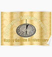 Celebrating 50 Years Together Poster