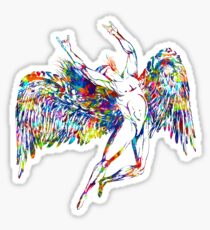 ICARUS THROWS THE HORNS - paint splotches  ***FAV ICARUS GONE? SEE BELOW*** Sticker