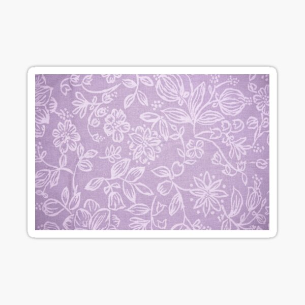 Purple Tone Floral Products Sticker