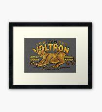 Yellow Paladin Vintage Shirt Framed Print