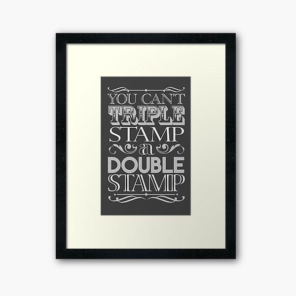 Triple Stamp Dark Framed Art Print