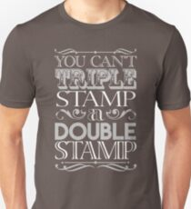 Triple Stamp Dark Unisex T-Shirt