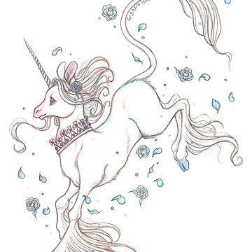 Blue Rose Unicorn  by helloheath