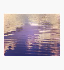 Water Relecting  the Sky Photographic Print