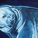 Blue Polar Bear  by Christine Montague