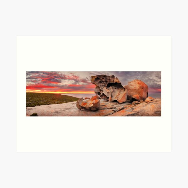 Remarkable Rocks Awakens, Kangaroo Island, South Australia Art Print