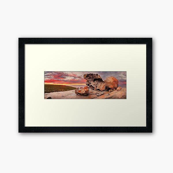 Remarkable Rocks Awakens, Kangaroo Island, South Australia Framed Art Print
