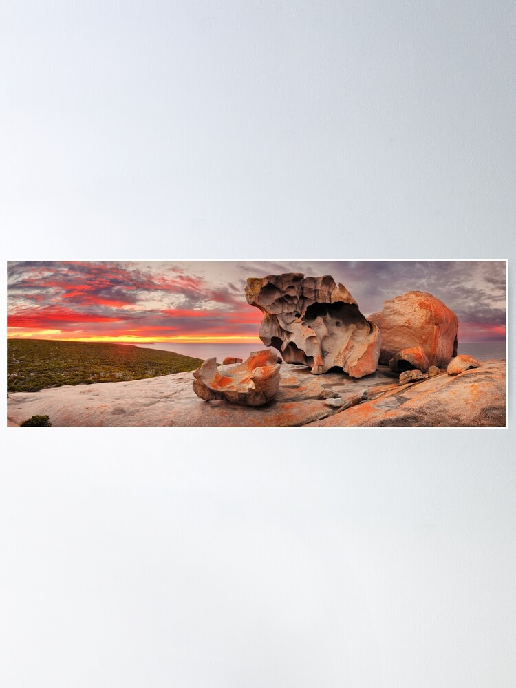 Alternate view of Remarkable Rocks Awakens, Kangaroo Island, South Australia Poster