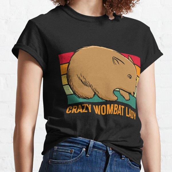 Crazy Wombat Lady Retro Vintage Classic T-Shirt