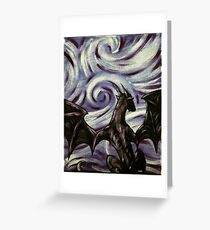 Dark Dragon Greeting Card