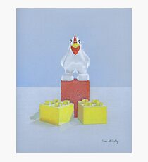 Duplo Chicken (red/blue) Photographic Print