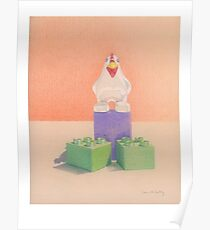 Duplo Chicken (orange/purple) Poster