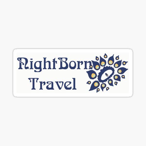 Night Born Travel  Sticker