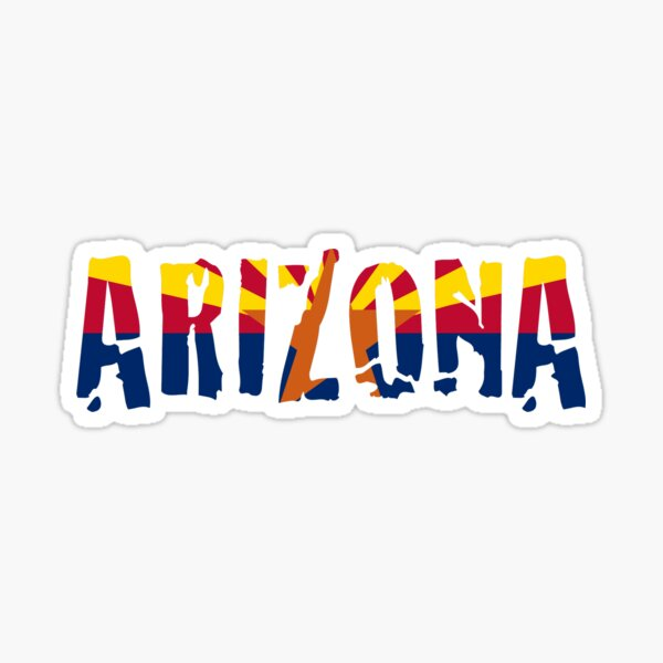 Arizona Word Flag Sticker