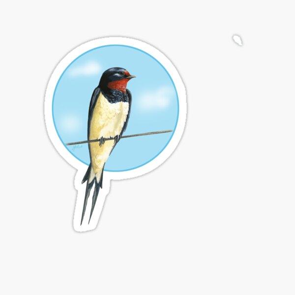 Swallow on a wire Sticker