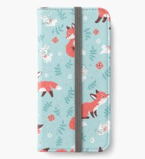 Fox and Bunny Pattern iPhone Wallet/Case/Skin
