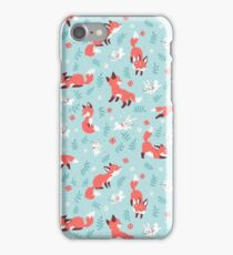 Fox and Bunny Pattern iPhone Case/Skin