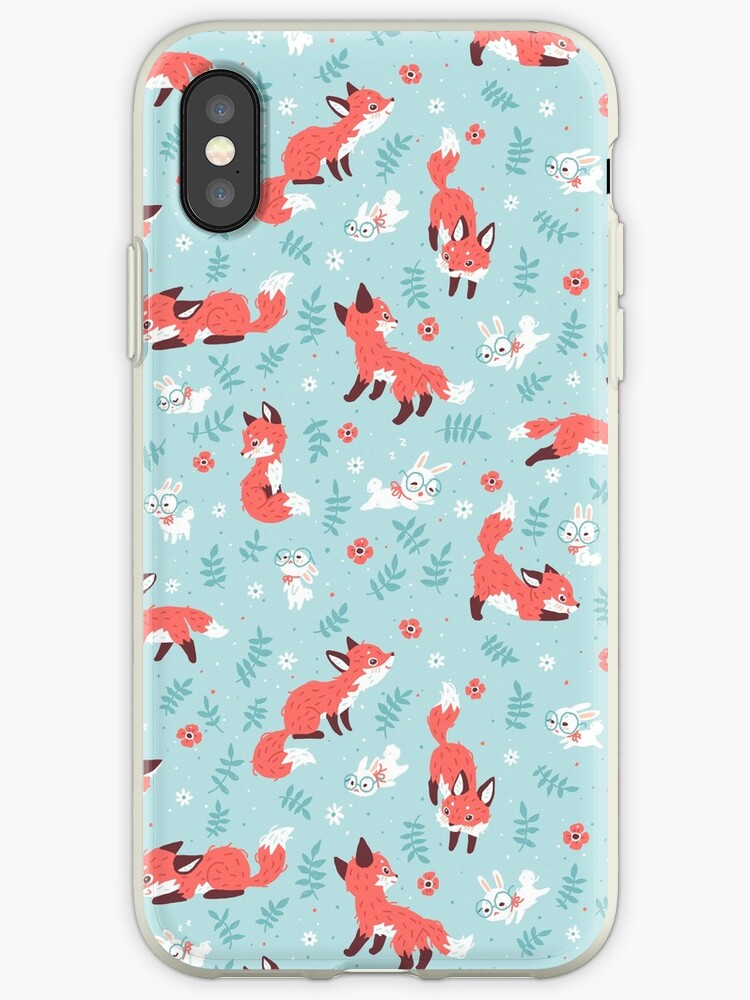 Fox and Bunny Pattern by freeminds