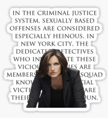 Benson and SVU intro Sticker