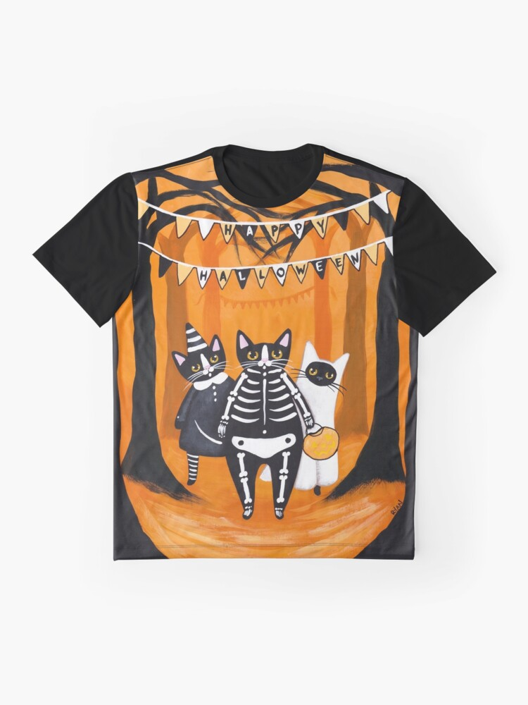 Alternate view of The Halloween Cats Graphic T-Shirt