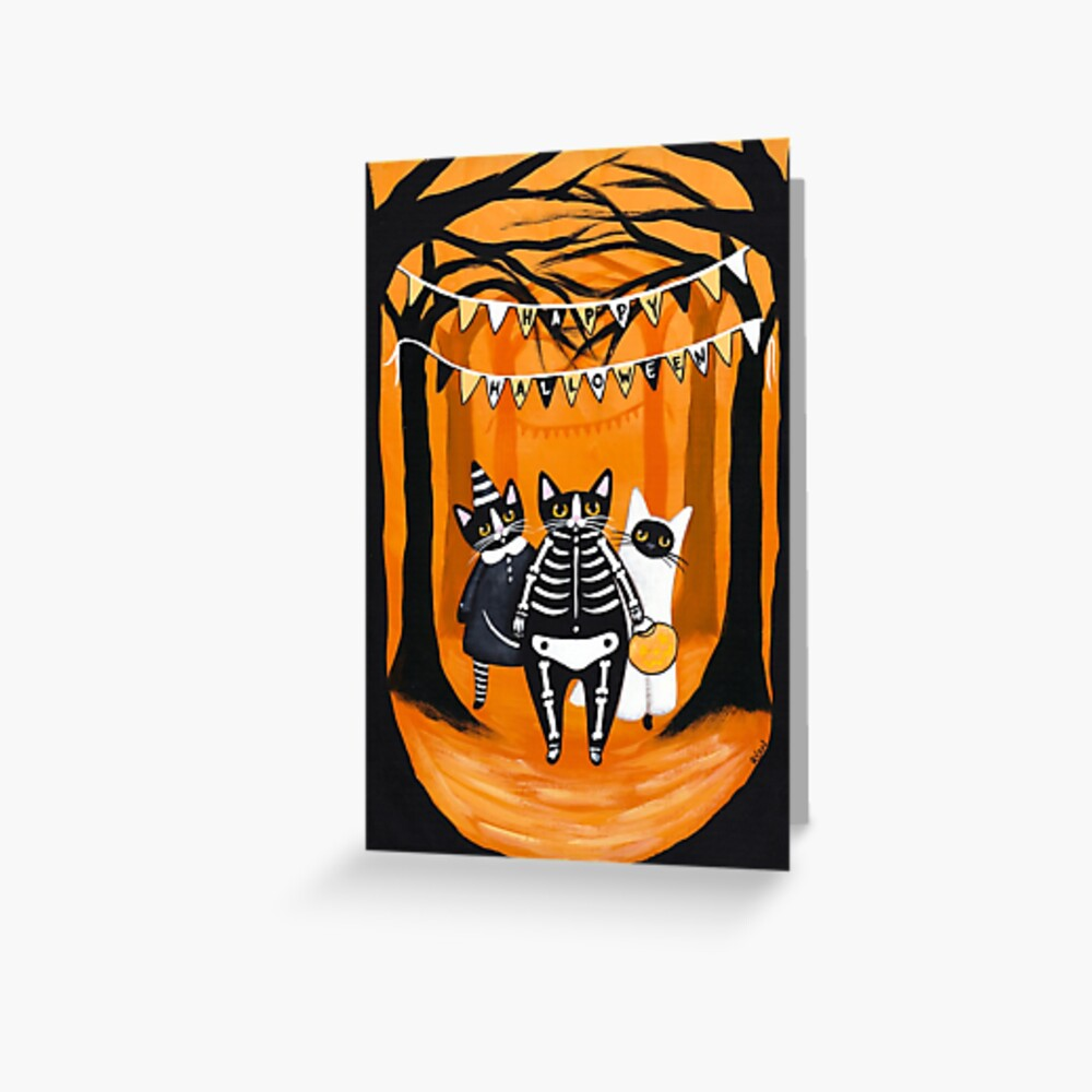 The Halloween Cats Greeting Card