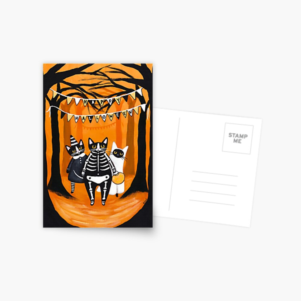 The Halloween Cats Postcard