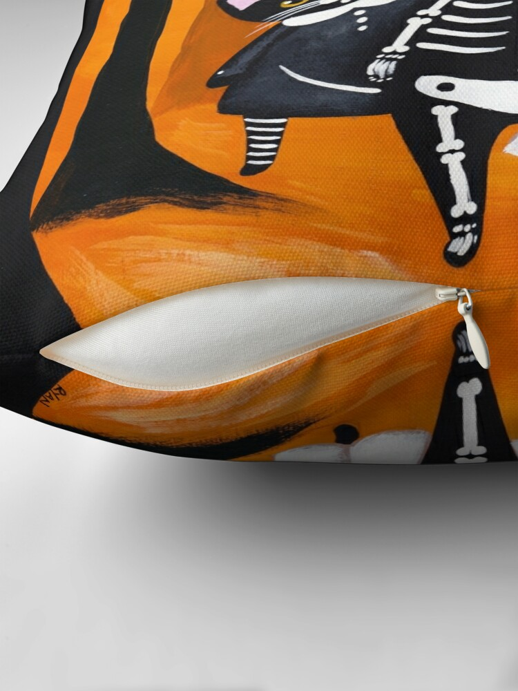 Alternate view of The Halloween Cats Throw Pillow