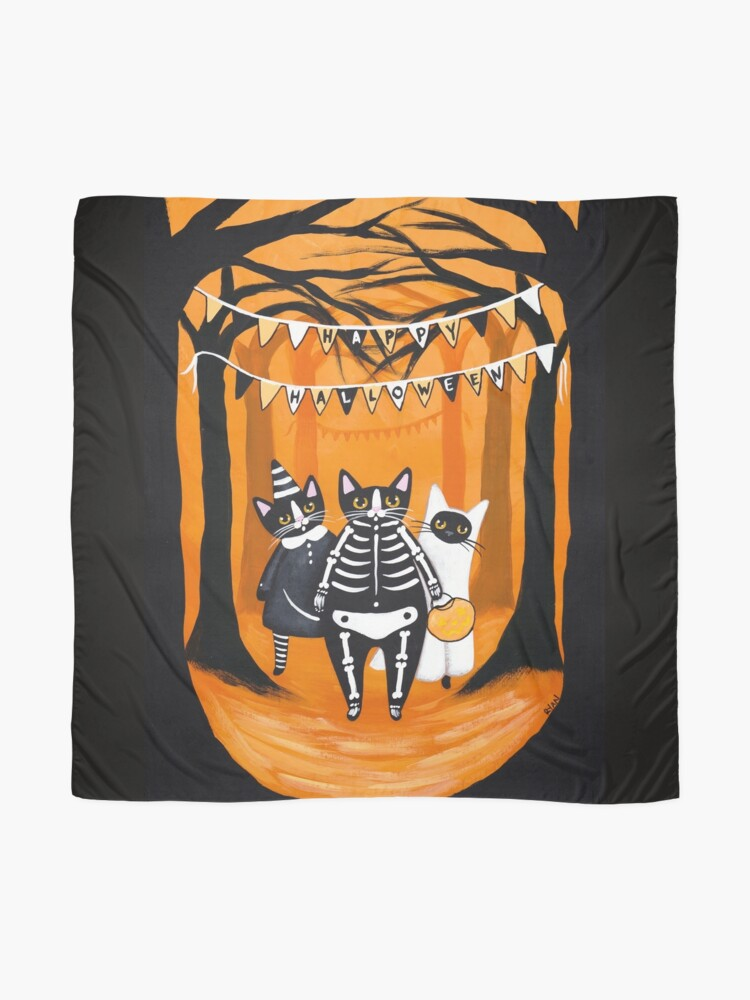 Alternate view of The Halloween Cats Scarf