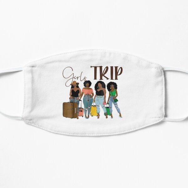 2021 African American New Orleans Girls Trip Vacation - Girl Trip Black -Girls Trip 2021 - Girls Weekend 2021 - Girls Road Trip 2021 - Summer Break Flat Mask
