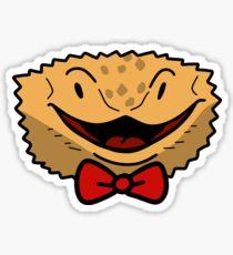 Bowtie Beared Dragon Face Sticker
