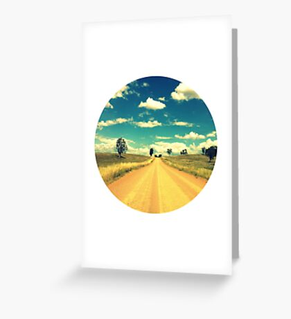 Dirty Back Road Greeting Card