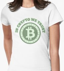 In crypto we trust (basic) Womens Fitted T-Shirt
