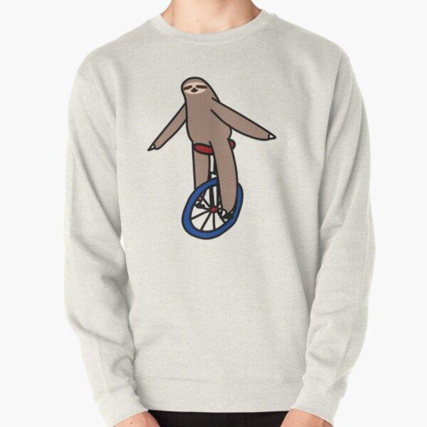 Unicycle Sloth Pullover Sweatshirt